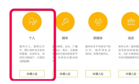 搜狐号入驻账号类型
